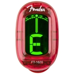 Fender Clip-On Tuner, Candy Apple Red.