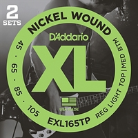 D'Addario TWIN PACK EXL165TP XL bassträngar 2 set