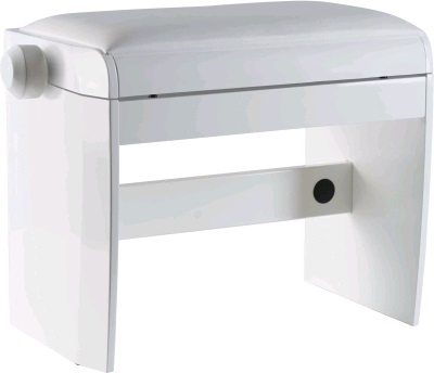 Dexibell pianobänk, polished white