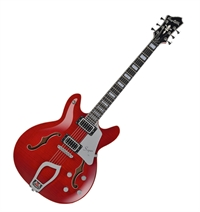 Hagström gitarr Super Viking Wild Cherry Transperent