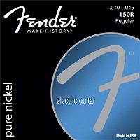 Fender Original 150 Gitarr strängar, Pure Nickel Wound, Ball End, 150R .010-.046 Gauges, (6)
