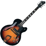 Hagström HJ800-3SB JAZZ. Hollow Body Jazz Gitarr i Sunbrust