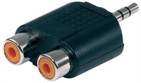 Alpha Audio Adapter 2x RCA socket - 1x 3,5 mm stereo jack plug