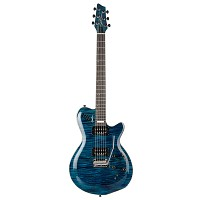 Godin LGXT Trans Blue Flame AAA with bag