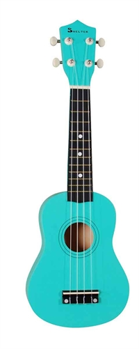 Shelter UK1S-GN ukulele, bundle green